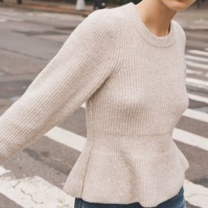 Madewell- Best Peplum Sweater. Size S NWT